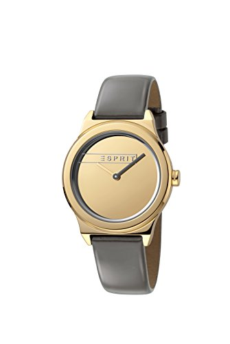 Esprit Damen Analog Quarz Uhr mit Leder Armband ES1L019L0035