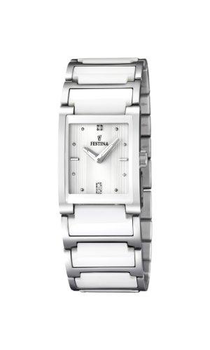 Festina Damen Analog Quarz Uhr mit Keramik Armband F16536/1