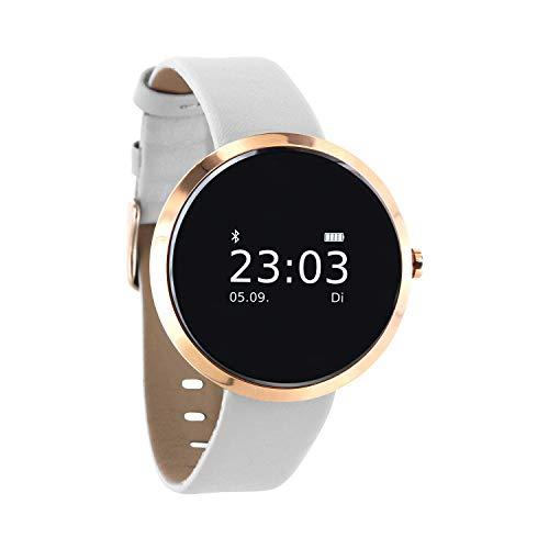 X-WATCH 54008 SIONA XW FIT Damen Smartwatch, Activity Tracker für Android und Apple iOS pure polar weiß