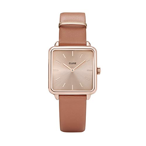 Cluse Damen Analog Quarz Uhr mit Leder Armband CL60010