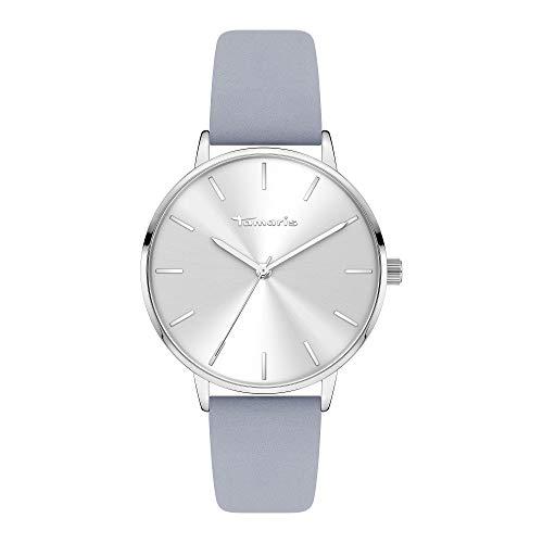 Tamaris Damen Analog Quarz Uhr mit Leder Armband TT-0004-LQ