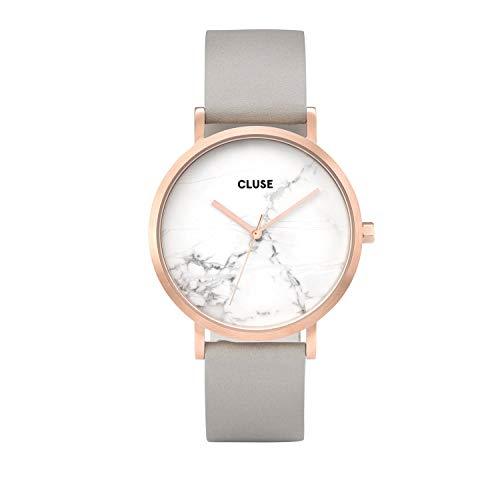 Cluse Unisex Erwachsene Digital Quarz Uhr mit Leder Armband CL40005