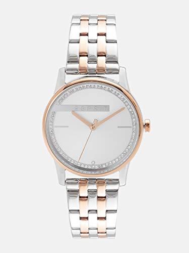 Esprit Damen Analog Quarz Uhr mit Edelstahl Armband ES1L082M0075