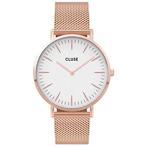 CLUSE Damen Analog Quarz Uhr mit Edelstahl Armband CW0101201001