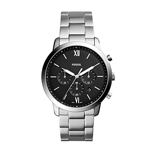 Fossil Herren Chronograph Quarz Uhr mit Edelstahl Armband FS5384