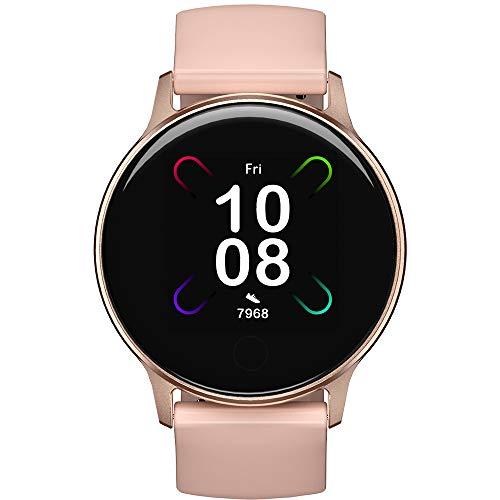UMIDIGI Smartwatch, Uwatch 3S Fitnessuhr mit Blutsauerstoff-Monitor(SpO2), Pulsuhr, wasserdichte Smart Watch Fitness Tracker mit Stoppuhr, Schrittzähler, Schlafmonitor für Damen und Herren, Rosa Gold