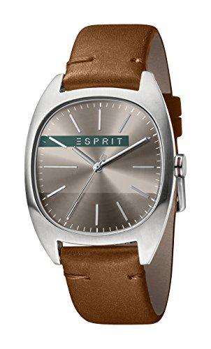 Esprit Herren Analog Quarz Uhr mit Leder Armband ES1G038L0045