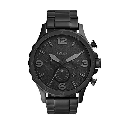 Fossil Herren Chronograph Quarz Uhr mit Edelstahl Armband JR1401