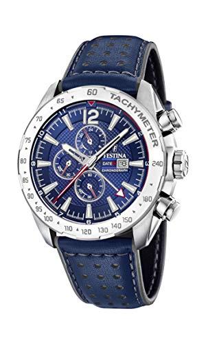Festina Herren Chronograph Quarz Uhr mit Leder Armband F20440/2