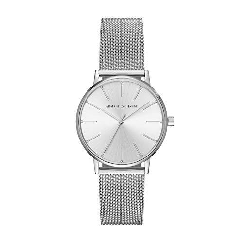 Emporio Armani Damen Analog Quarz Uhr mit Edelstahl Armband AX5535