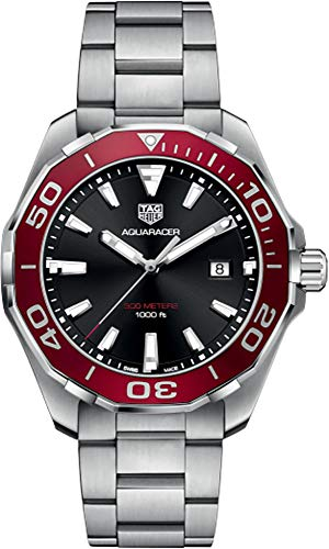 Tag Heuer Aquaracer 300M rote Lünette 43mm Herrenuhr WAY101B.BA0746