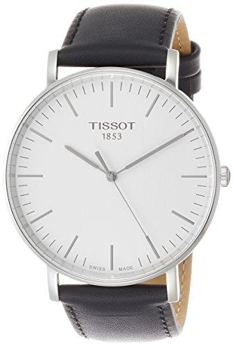 Tissot Herren Analog Quarz Everytime Large Armbanduhr mit Leder Armband T1096101603100