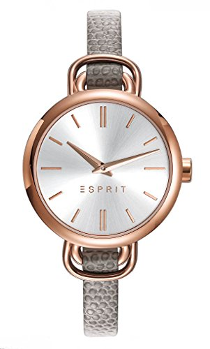 Esprit Damen Analog Quarz Uhr mit Leder Armband ES109542003