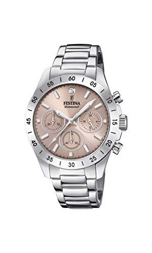 Festina Damen Chronograph Quarz Uhr mit Edelstahl Armband F20397/3
