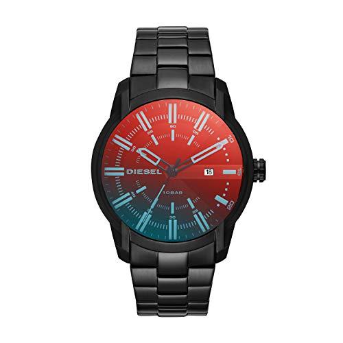 Diesel Herren Analog Quarz Uhr mit Edelstahl Armband DZ1870