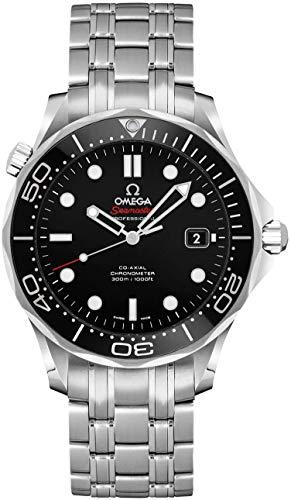 Omega seamaster 41mm schwarzes Zifferblatt Herrenuhr 212.30.41.20.01.003