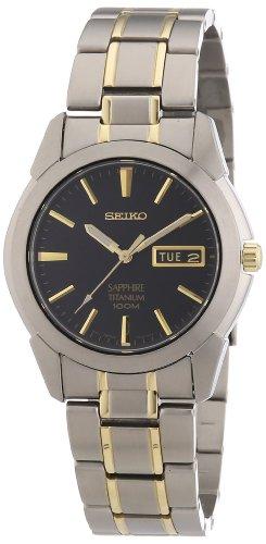 Seiko Herren-Uhr analog Quarz mit Metallarmband SGG735P1