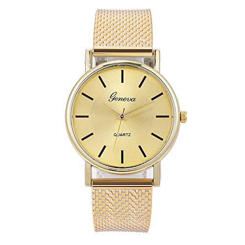 HWTOP Damen Quarzuhr High-End Blue Glass Armbanduhr Exquisite Damenuhr Waterproof Analog Quartz Wrist Watch, H