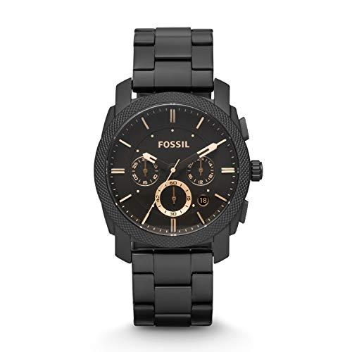 Fossil Herren Chronograph Quarz Uhr mit Edelstahl Armband FS4682