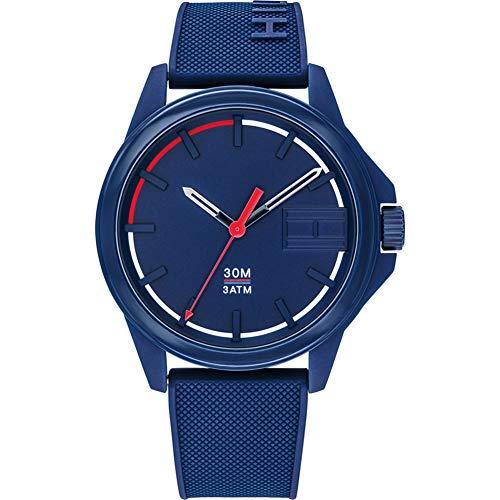 Tommy Hilfiger Herren Analog Quartz Uhr mit Silikon Armband 1791625