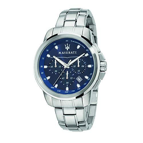 MASERATI Herren Chronograph Quarz Uhr mit Edelstahl Armband R8873621002
