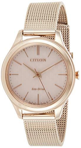 CITIZEN Damen Analog Quarz Uhr mit Edelstahl Armband EM0503-83X