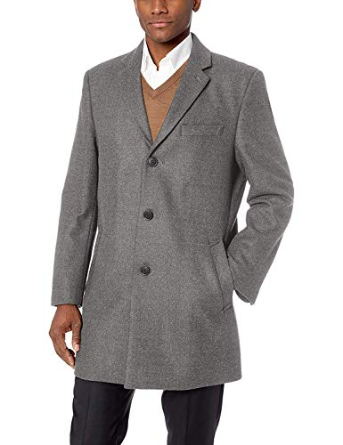 Michael Kors Men's MMK19585 Madison Topcoat - Medium Grey - 38S