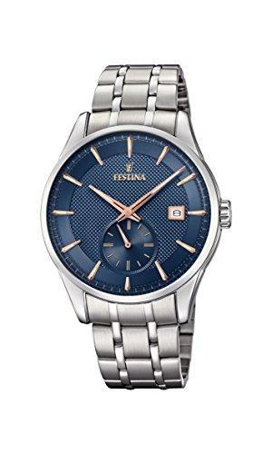 Festina Herren Analog Quarz Uhr mit Edelstahl Armband F20276/2