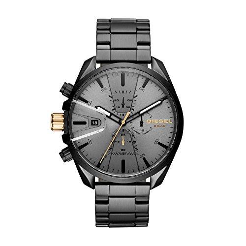 Diesel Herren Chronograph Quarz Uhr mit Edelstahl Armband DZ4474