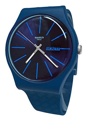 Swatch Herren Analog Schweizer Quarz Uhr mit Silicone Armband SUON713