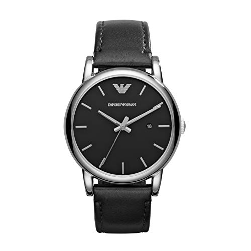 Emporio Armani Herren Analog Quarz Uhr mit Leder Armband AR1692