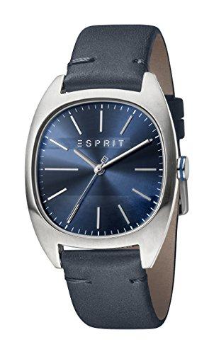 Esprit Herren Analog Quarz Uhr mit Leder Armband ES1G038L0035