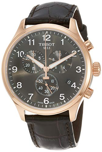 Tissot Herren-Uhren Analog Quarz One Size Leder 87459764