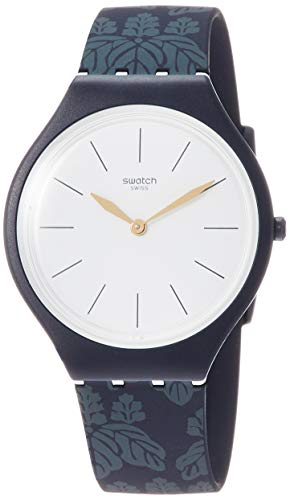 Swatch Unisex Erwachsene Analog Quarz Uhr mit Silikon Armband SVON102