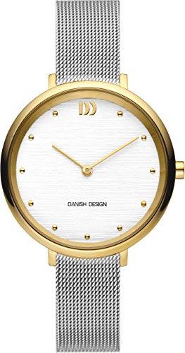 Danish Design Damen Analog Quarz Uhr mit Edelstahl Armband IV65Q1218