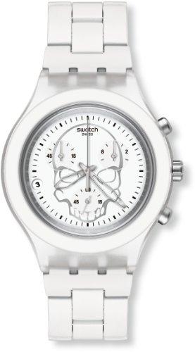 Swatch Herren-Armbanduhr Full-Blooded White Skull SVCW4000AG