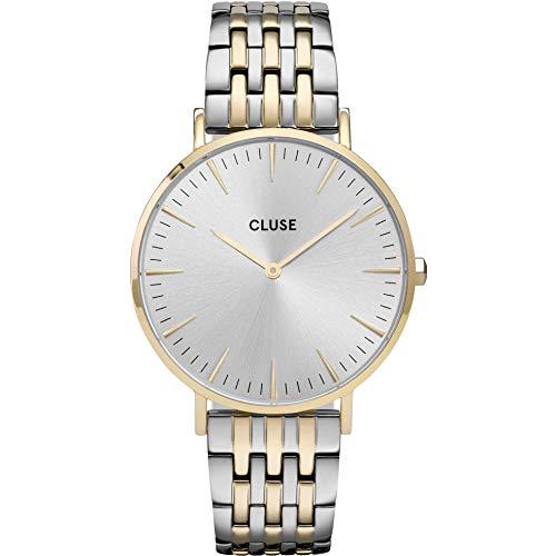 Cluse Damen-Uhren Analog Quarz One Size Bicolor Edelstahl 32011554