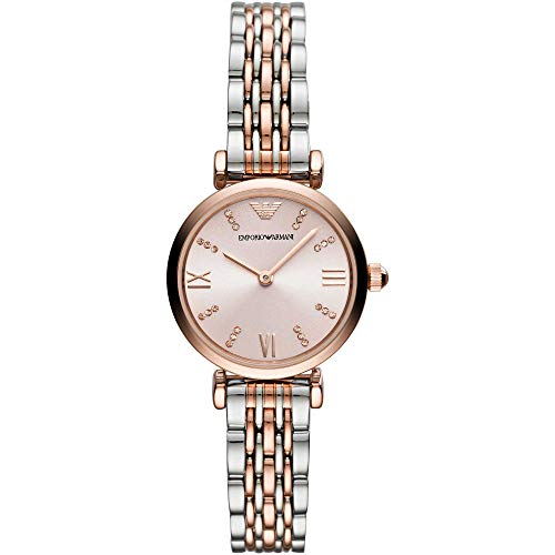 Emporio Armani Damen Analog Quarz Uhr mit Edelstahl Armband AR11223