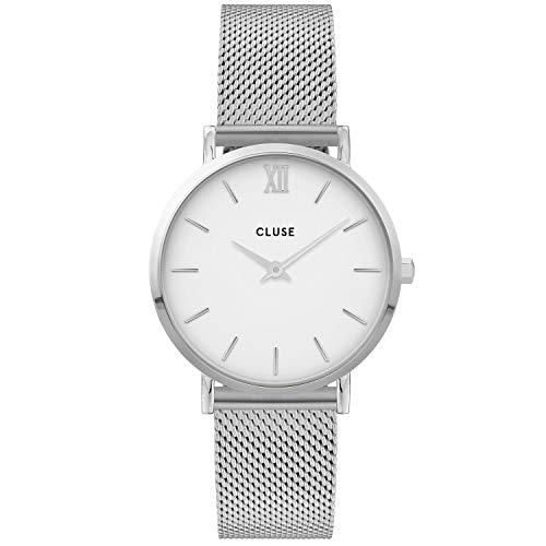 CLUSE Damen Analog Quarz Uhr mit Edelstahl Armband CW0101203002