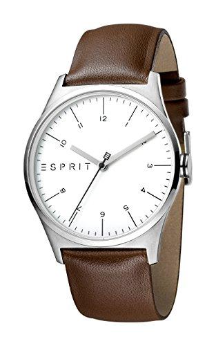 Esprit Herren Analog Quarz Uhr mit Leder Armband ES1G034L0015
