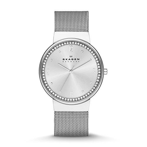 Skagen Damen Analog Quarz Uhr mit Edelstahl Armband SKW2152
