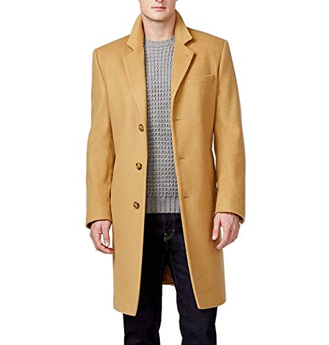 Michael Kors Men's MMK19585 Madison Topcoat - Solid Camel - 44R