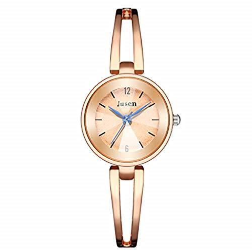 Uhr Armbanduhren Männer Damenuhren Hansee Mode Einfach Star Diamond Intarsien Edelstahluhr Frauen Quarzuhr Uhren Wrist Watches(E)