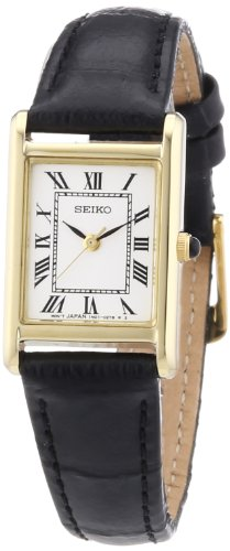 Seiko Damen-Uhr analog Quarz mit Lederarmband SXGN56P1