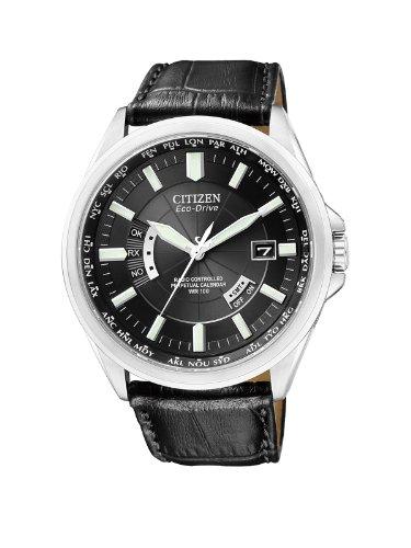 Citizen Herren Analog Quarz Uhr mit Leder Armband CB0010-02E