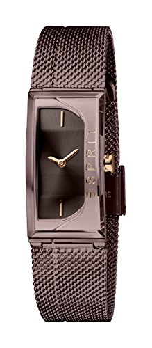 Esprit Damen Analog Quarz Uhr mit Edelstahl Armband ES1L015M0045