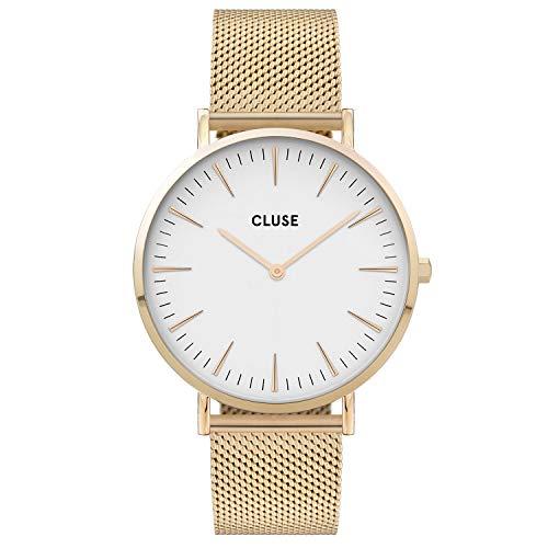 CLUSE Damen Analog Quarz Uhr mit Edelstahl Armband CW0101201009