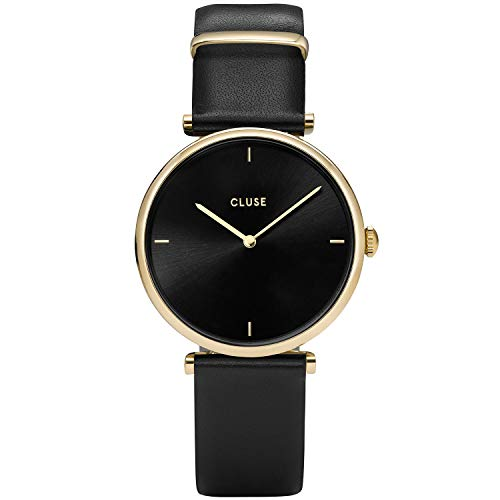 Cluse Damen Analog Quarz Uhr mit Leder Armband CL61006