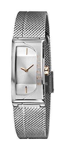 Esprit Damen Analog Quarz Uhr mit Edelstahl Armband ES1L015M0015
