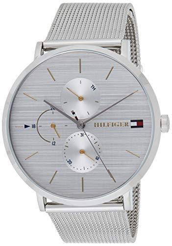 Tommy Hilfiger Damen Multi Zifferblatt Quarz Uhr mit Edelstahl Armband 1781942